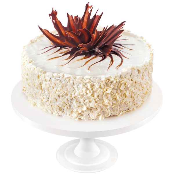 The most delicate combination of honey cakes with an inlay of Charlotte cream, Gruyer crumble and rum. The cake is decorated with mirror glaze and chocolate ornaments.